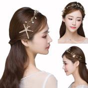 Starfish Hairpins Wedding Wedding Hair Accessories Gold-tone Flower Bridal Hair Pearl Jewellery Comb Hair Pins Bridal Accessories