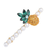 Hairpin Metal Hair Clip for Women ,6.7x2.7cm, one-rod (Alloy Crystal ) - (Set of 1)