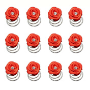Shengxueer 12pcs Fabric Small Flower Twist Hairpins Spiral Clip Wedding Party Hair Jewellery