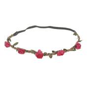 Korean version of the headdress Bohemian beach roses flowers hair band bridal wreath hair band