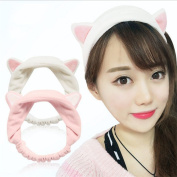 LAOZHOU Beauty Tool Lovely Cat Ears Hair Band