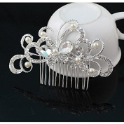 Butterfly - Crystal Rhinestone Pearls Hairpin Flower Diamante Hair Clip Comb Wedding Jewellery