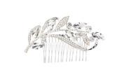 YOUTO Girls' Fashion Leaf Pattern Bridal Rhinestone Hair Comb Clip
