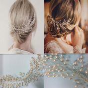 Pearl Hair Comb for Bridal Accessories Wedding Women Hair Combs with Bead Bridal Headpiece for Bridalmaids