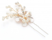 Petal Flower With Pearl Wedding Hair Pin
