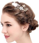 BABEYOND Vintage Flower Wedding Hair Combs Bridal Headpiece Women Hair Side Combs Bridesmaids Accessories
