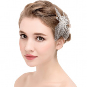 YAZILIND Beauty Women's Bridal Wedding Hair Clip Barrette Party lace Flower Alloy Women Accessories