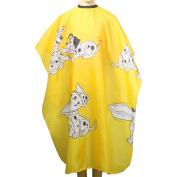 Niceskin Cartoon Hair Cutting Gown Cape Hairdresser Cape for Kids, Waterproof Polyester Taffeta