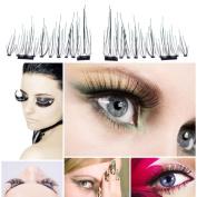 Eyelashes,YJM Ultra-thin Magnetic Eye Lashes 7mm 3D Reusable False Magnet Eyelashes