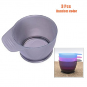 Garrelett 3 Pcs Hair Dye Bowl - DIY Hair Colour Mixing Bowls / Salon Hairdresser Dye Tint Bowl with Handle