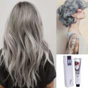 Ecurson 100ML Fashion Permanent Punk Hair Dye Light Grey Silver Colour Cream