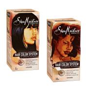 Shea Moisture Hair Colour System 2 Pack - Jet Black & Dark Auburn - 2 Items Bundled by Maven Gifts