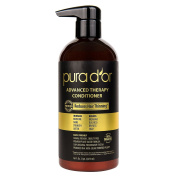 PURA D'OR Advanced Therapy Conditioner Increases Moisture and Strength, Made with Premium Organic Argan Oil & Aloe Vera, 16 Fluid Ounce