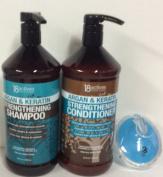 18 Actives Argan & Keratin Strengthening shampoo & conditioner 33 fl oz/1000 ml each