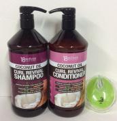 18 Actives coconut oil Curl shampoo & conditioner 33 fl oz/1000 ml each