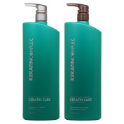Keratin Care Shampoo and Conditioner Duo 980ml/each