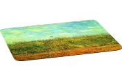 Rikki Knight Van Gogh Art Wheat Field with a Lark Large Non-Slip Fabric Top Table Place Mats with Rubber Backing