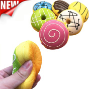 Stress Toy,IEason New Squishy Squeeze Stress Reliever Soft Colourful Doughnut Scented Slow Rising Toys