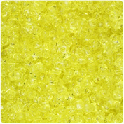 BEADTIN Yellow Transparent 11mm TriBead Craft Beads