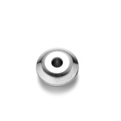 REAMOR 20pcs Polishing 316l Stainless Steel 2mm Small Hole Basic Spacer Bead Charms for Jewellery Making Wholesale,8mm
