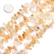"Natural Semi Precious Gemstone Citrine Beads for Jewellery Making Strand 15"""