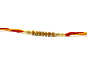 Excellent Rakhi for brother - Beautiful and Simple Seven Beads Design Rakhi in two colour Thread - Rakhdi Pack of 3