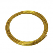 LeGold Aluminium Craft Wire Gold Colour 12 Gauge 5.5m