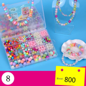 Colourful Acrylic Beads Crafts Jewellery Beads Set Accessories Toys Beads for Children's DIY Bracelets Necklace Early Childhood Educational Toys