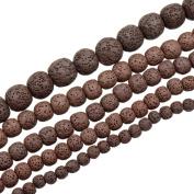 "AD Beads Lava Rock Semi Precious Gemstone Round Loose Beads 15.5"" 6mm 8mm 10mm 12mm 14mm"