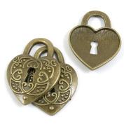 10 PCS Jewellery Making Charms Ancient Antique Bronze Fashion Jewellery Making Crafting Charms Findings Bulk for Bracelet Necklace Pendant A01882 Heart Love Lock