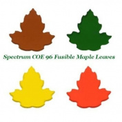Spectrum COE 96 SET/4 MAPLE LEAVES Precut Fusible Glass