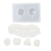 MagiDeal Easy Casting Craft Resin Jewellery Mould Tools 6 Shapes fit Pendant Charms Earrings Making