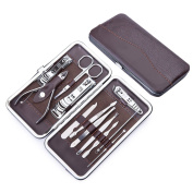 Manicure Pedicure Set Nail Clippers Kit - French Mens Women Salon Stainless Steel Nail Clipper Tools Set Include Cuticle Trimmer, Ear Pick, Eyebrow Tweezers, Peeling Knife, Blackhead Needle, Scissors