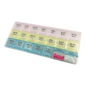 Weekly Pill Organiser, Three-Times-a-Day, 1 Pill Organiser - 3-per-day pill dispenser - 21 Compartments Pill Organiser Box - 7-day AM/PM for Pills