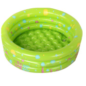 Hi Suyi Baby Kids 3 rings Ocean Inflatable Swimming Bath Play Paddling Pool Beach Toys with Air Pump 100x28cm