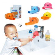 Faucet Extender Baby Toddlers Bathroom Safety Sink Hand Washing Accessory Duck