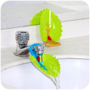 Faucet Cover, Leaf Design Safety Faucet Extender For Children Toddler Kids Hand Washing Baby Kids Hand Wash Helper Bathroom Sink