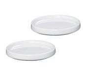 Zassenhaus Porcelain Mill Coasters/Trivets, Set of 2, White