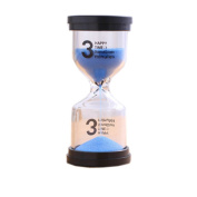 Colourful Sand Timer Hourglass Sandglass Small Ornaments Dropping Ueasily, 3 minutes + Blue