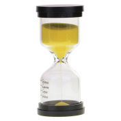 Jili Online 5 Minutes Happy Time Sandglass Hourglass Sand Timer Kitchen Clock Home Decorations - Yellow