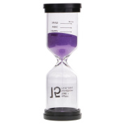 Jili Online 15 Minutes Happy Time Sandglass Hourglass Sand Timer Kitchen Clock Home Decorations - Purple