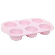 Wiltshire Flexible Muffin Pan 6 Cup Pink