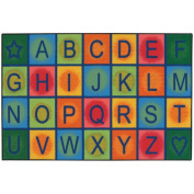 Kids Value Rugs Simple Alphabet Blocks Kids Rug