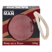 Great Kiwi Man Soap on a Rope Cricket Ball 200g