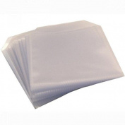 Four Square Media 25 Cd Dvd Disc Clear Cover Cases Plastic 150 Micron Sleeve -