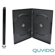 10 Dvd Double Sleeves Quvido Black/cds Dvds 2 O./ 14 Mm
