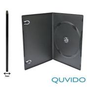 10 Slim Black Single Dvd Hüllen Quvido/1 Cd Dvd O./ 7 Mm