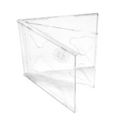 Vision Media 5 X Double Cd Jewel Case Clear Tray- 10.4mm Spine