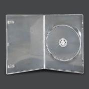 Vision Media 10 X Single Clear Slim 7mm Spine Dvd/cd/blu Ray Case