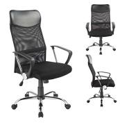 Office Chair Black - 0341 Duhome - Mesh Ergonomic Chef Armchair Swivel Tilt